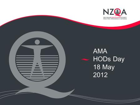 AMA HODs Day 18 May 2012. Current Issues in External Assessment Standards alignment, levels 1, 2, 3 Grade-score marking Level 1 external standards in.