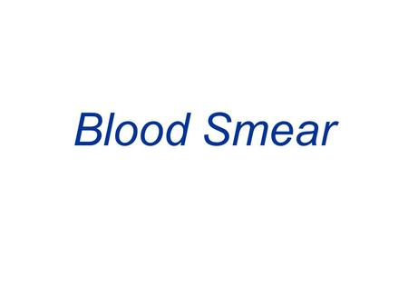 Blood Smear. This peripheral blood smear from a patient with essential thrombocythemia shows increased numbers of platelets, including some large.