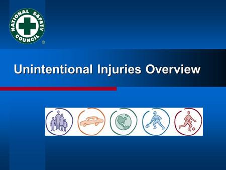 Unintentional Injuries Overview. Injury Facts  Unintentional Injuries #1 cause of death for people 1 to 41 years old #1 cause of death for people 1 to.