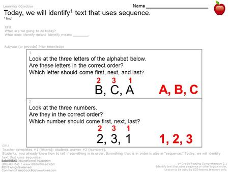 DataWORKS Educational Research (800) 495-1550  ©2012 All rights reserved. Comments? 1 st Grade Reading Comprehension.