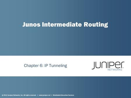 Junos Intermediate Routing