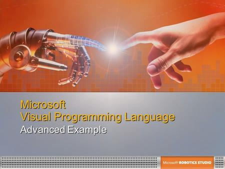 Microsoft Visual Programming Language Advanced Example.