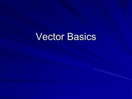 Vector Basics. OBJECTIVES CONTENT OBJECTIVE: TSWBAT read and discuss in groups the meanings and differences between Vectors and Scalars LANGUAGE OBJECTIVE: