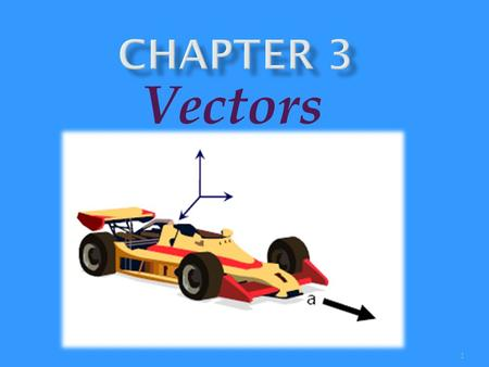1 Vectors. 2  Vectors and Scalars,  Addition of vectors  Subtraction of vectors.