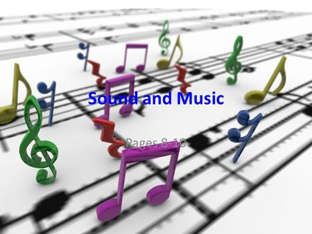 Free PowerPoint Backgrounds Sound and Music Pages 8-10.