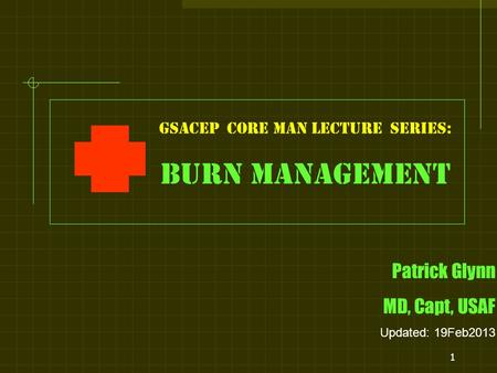 GSACEP core man LECTURE series: