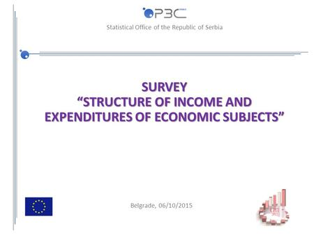 "Statistical Office of the Republic of Serbia SURVEY ""STRUCTURE OF INCOME AND EXPENDITURES OF ECONOMIC SUBJECTS"" Belgrade, 06/10/2015."