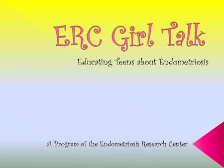 A Program of the Endometriosis Research Center.  Endometriosis, also known as Endo, is a disease the effects many girls and women. Every month when a.
