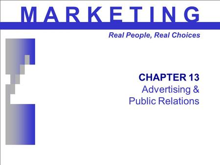 CHAPTER 13 Advertising & Public Relations
