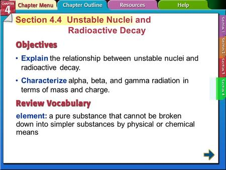 Section 4.4 Unstable Nuclei and Radioactive Decay