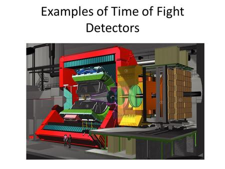Examples of Time of Fight Detectors. Variety of methods for measuring time it takes for a particle to travel through a medium A time of flight (TOF) detector.