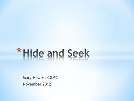 Mary Hawes, CGMC November 2012. * The Child in the Church * The Bible and Children * Children and Holy Communion * Unfinished Business * Jesus and the.