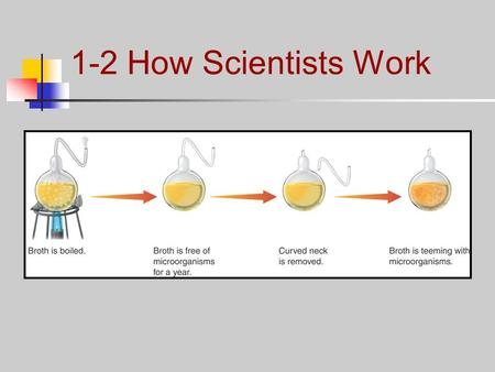 1-2 How Scientists Work. Designing an Experiment How do scientists test hypotheses? Whenever possible, a hypothesis should be tested by an experiment.