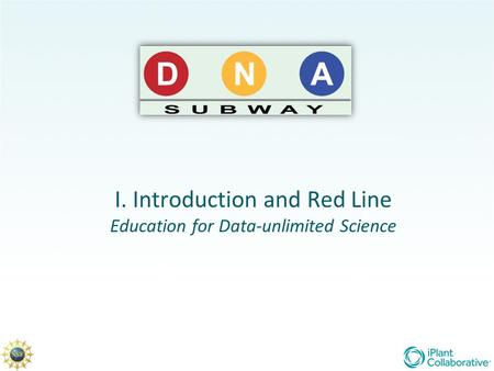 I. Introduction and Red Line Education for Data-unlimited Science.