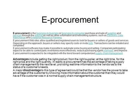 Big data retail procurement