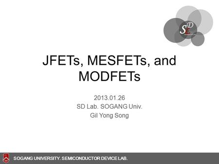 JFETs, MESFETs, and MODFETs