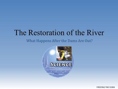 The Restoration of the River What Happens After the Dams Are Out?
