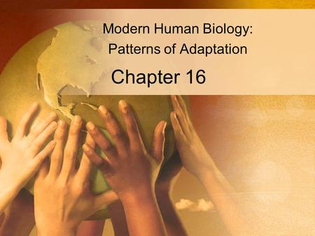 Chapter 16 Modern Human Biology: Patterns of Adaptation.