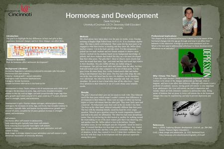 Introduction The goal is to highlight the key differences in boys and girls as they experience hormonal changes and how these changes can affect them.