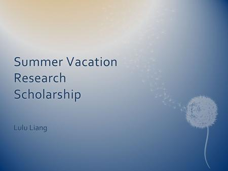 Summer Vacation Research Scholarship Lulu Liang. ANZIC-RC Traumatic Brain Injuries POLAR POLAR BEAR Renal Sub- study EPO ARISE Olivier's Study Flail Chest.