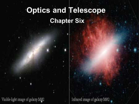 Optics and Telescope Chapter Six. ASTR 111 – 003 Fall 2007 Lecture 06 Oct. 09, 2007 Introducing Astronomy (chap. 1-6) Introduction To Modern Astronomy.