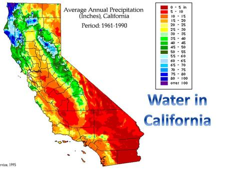 Snow Groundwater Rain What are California's Major Sources of Water?