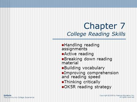 Chapter 7 College Reading Skills