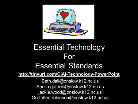 Essential Technology For Essential Standards