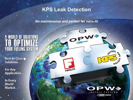 1 1 KPS Leak Detection No maintenance and perfect for retro-fit.