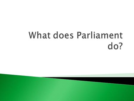  To know what Parliament is and what it does.  To understand how Parliament is split into the House of Commons and the House of Lords  To identify.