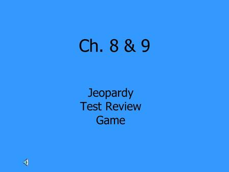 Ch. 8 & 9 Jeopardy Test Review Game. Geography of Russia It's really cold here! Russian Culture Eurasian Republics From Communism to Democracy 100 200.