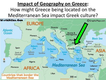 Impact of Geography on Greece: How might Greece being located on the Mediterranean Sea impact Greek culture?