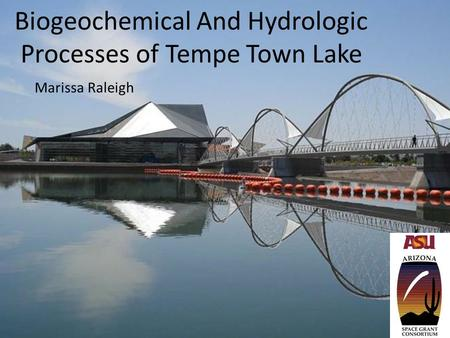 Biogeochemical And Hydrologic Processes of Tempe Town Lake Marissa Raleigh.
