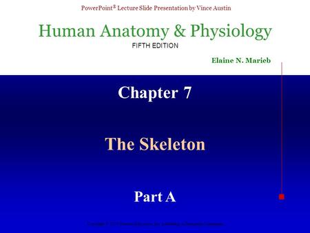 Chapter 7 The Skeleton Part A.