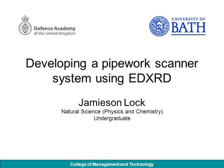Developing a pipework scanner system using EDXRD