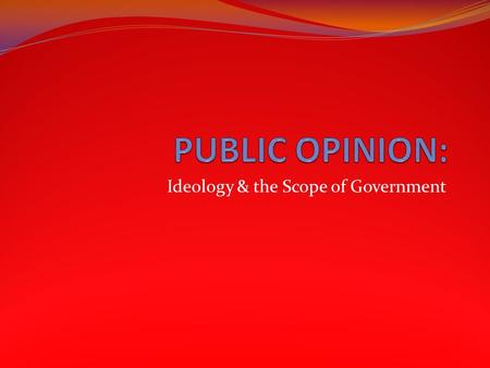 Ideology & the Scope of Government