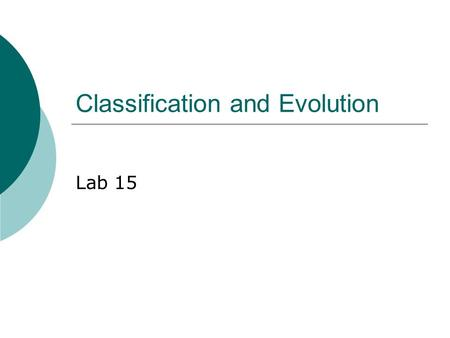 Classification and Evolution Lab 15. Taxonomy  Taxonomy is the field devoted to the classification of living things. First devised by Carolus Linnaeus.