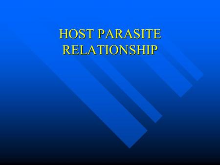 host parasite relationship in medical microbiology murray