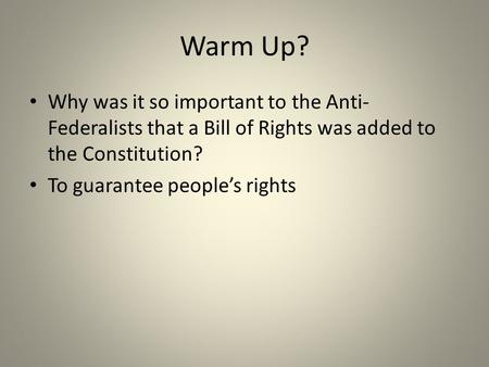 unit 3 bill of rights Constitution and the bill of rights – unit 3 study guide chapter 5 in the americans textbook p 124-143 the living constitution in the americans textbook p 144-169 a review the essential questions b review the main ideas remember to build your vocabulary.