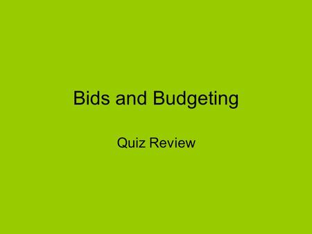 Bids and Budgeting Quiz Review. How is Ad Rank determined?