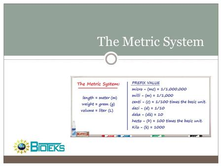 The Metric System Do you want a footer?.
