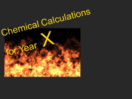 Chemical Calculations for Year X. n 22.4 m n M num n 6x10 23.
