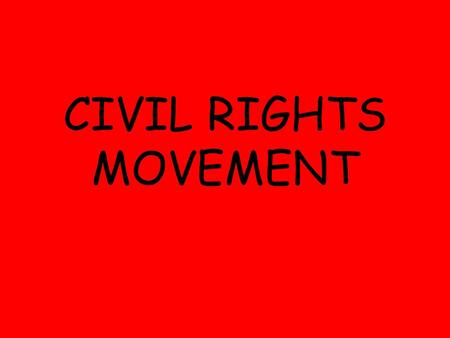 "CIVIL RIGHTS MOVEMENT. EMMETT TILL BROWN V. BOARD OF EDUCATION 1954: ""Separate but equal"" was unconstitutional Schools are required to desegregate Caused."