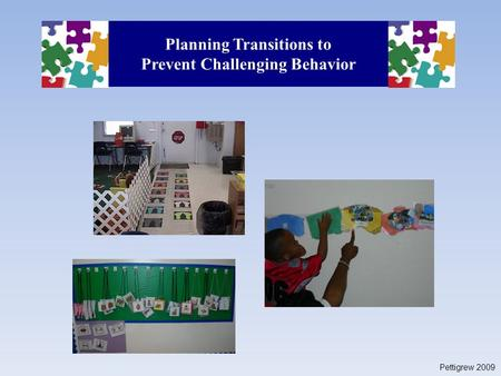 Planning Transitions to Prevent Challenging Behavior Pettigrew 2009.