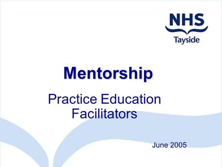Mentorship Practice Education Facilitators June 2005.