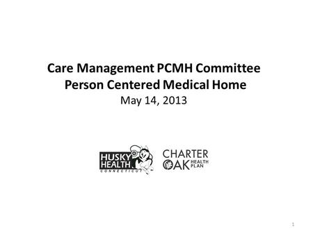 1 Care Management PCMH Committee Person Centered Medical Home May 14, 2013.