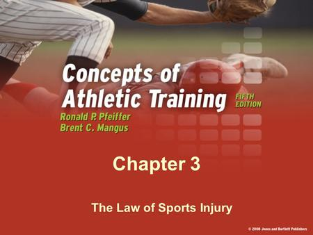 Chapter 3 The Law of Sports Injury. The Coach The coach is typically the first person at the scene of an injury. The coach's decisions and actions are.
