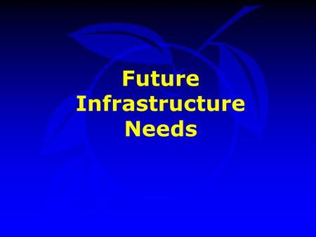 Future Infrastructure Needs. Public Works Projects Park Projects Environmental Protection Projects Neighborhood Services Projects Presentation Outline.