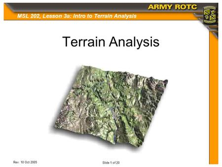 Terrain Analysis.