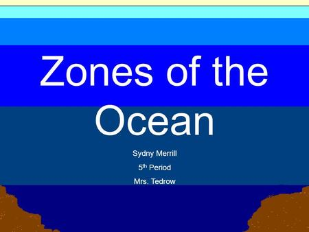Zones of the Ocean Sydny Merrill 5 th Period Mrs. Tedrow.